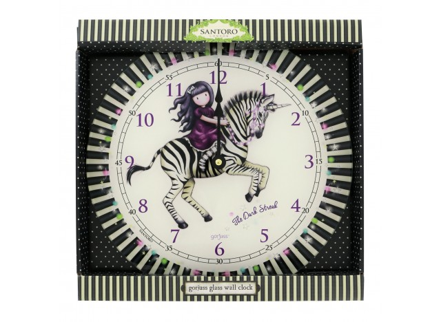 RELOJ DE PARED DE CRISTAL GORJUSS.
