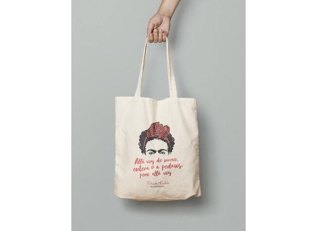 Tote bag con ilustración FRIDA KAHLO algodón sostenible 100%