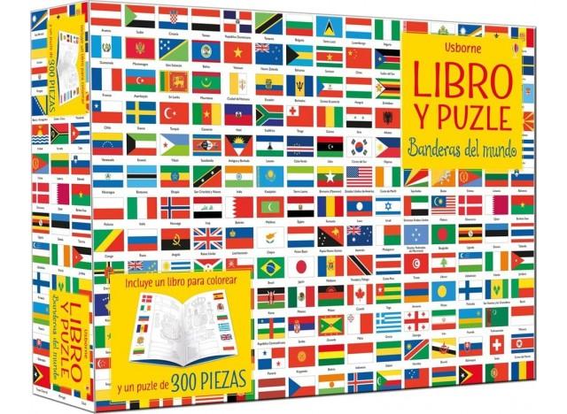 LIBRO PUZZLE 300 PIEZAS. BANDERAS DEL MUNDO