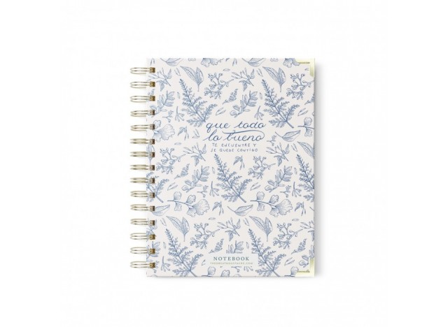 A5 CUADERNO - BLUE VINTAGE. THE GREAT MOUSTACHE
