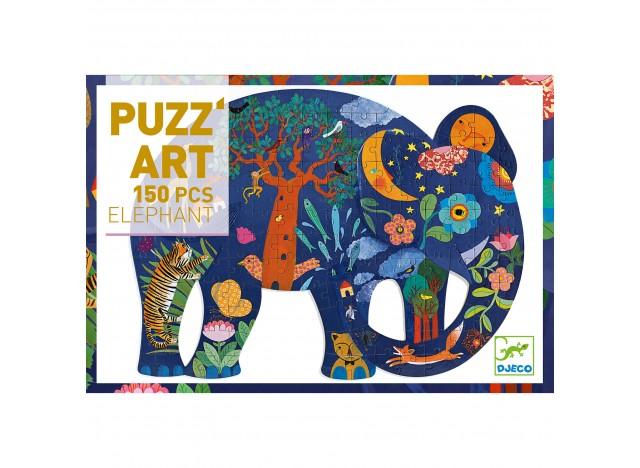 PUZLE ART DJECO 150 PIEZAS. ELEFANTE