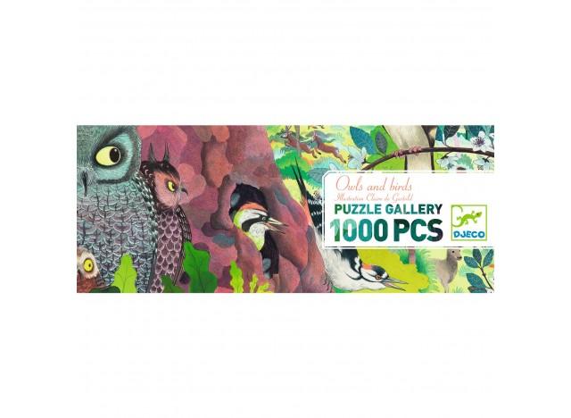 PUZLE GALERÍA DJECO 1000 PIEZAS. OWLS AND BIRDS